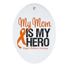 LeukemiaHero Mom Oval Ornament