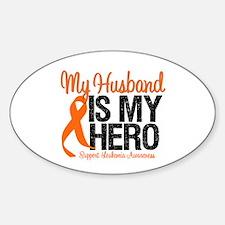 LeukemiaHero Husband Oval Sticker (10 pk)