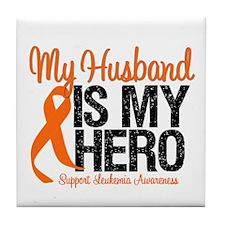 LeukemiaHero Husband Tile Coaster