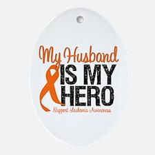 LeukemiaHero Husband Oval Ornament
