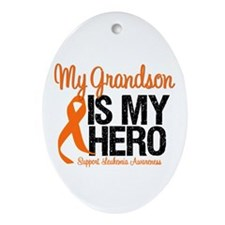LeukemiaHero Grandson Oval Ornament
