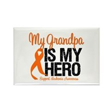 LeukemiaHero Grandpa Rectangle Magnet