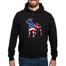 Patriotic Pit Bull Design Hoodie