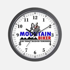Mountain Biker Ride Today Wall Clock