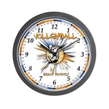 Volleyball-BRACE YOURSELF Wall Clock
