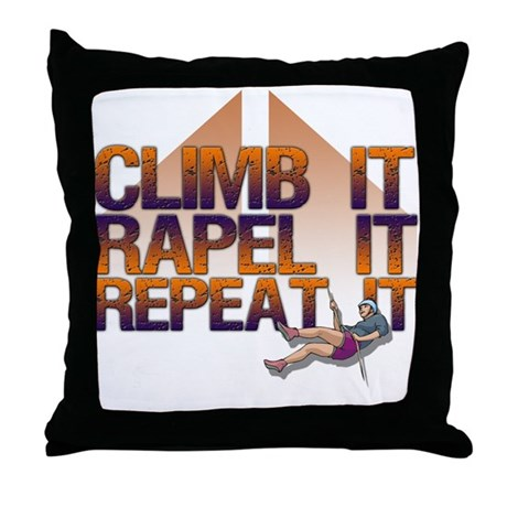 Repel It/Climber Throw Pillow