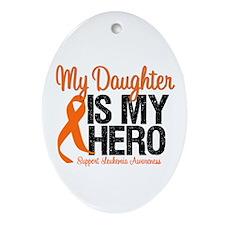 LeukemiaHero Daughter Oval Ornament