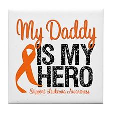 LeukemiaHero Daddy Tile Coaster