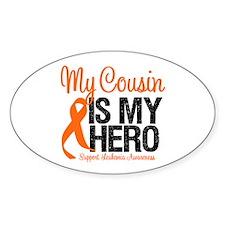 LeukemiaHero Cousin Oval Sticker (10 pk)