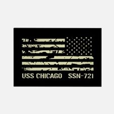 USS Chicago Rectangle Magnet