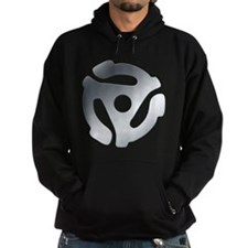 Silver 45 RPM Adapter Hoodie