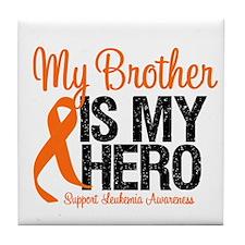 LeukemiaHero Brother Tile Coaster