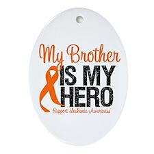 LeukemiaHero Brother Oval Ornament