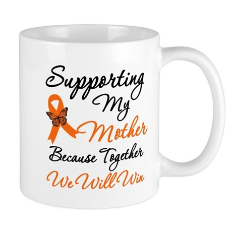 Orange Ribbon Butterfly Mug