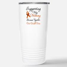 Orange Ribbon Butterfly Travel Mug
