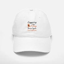 Orange Ribbon Butterfly Baseball Baseball Cap