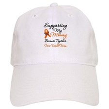 Orange Ribbon Butterfly Baseball Cap