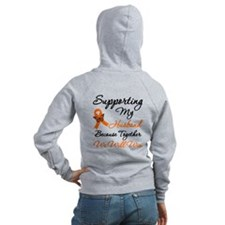 Orange Ribbon Butterfly Zip Hoodie