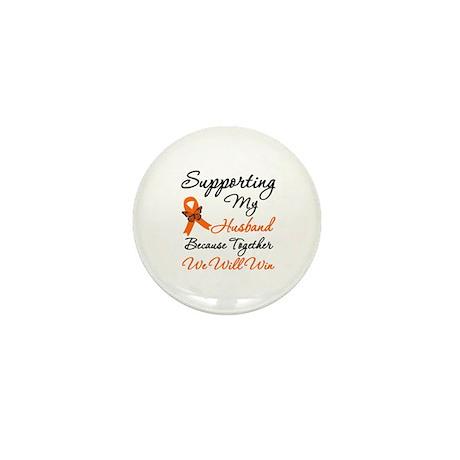 Orange Ribbon Butterfly Mini Button (10 pack)