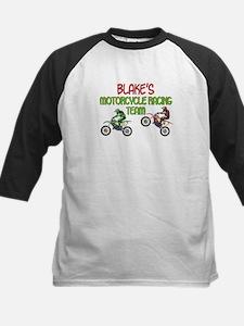 Blake's Motorcycle Racing Kids Baseball Jersey