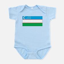 Uzbekistan Flag Infant Creeper