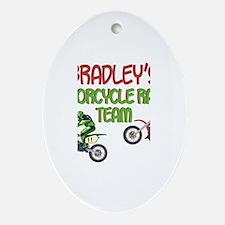 Bradley's Motorcycle Racing Oval Ornament