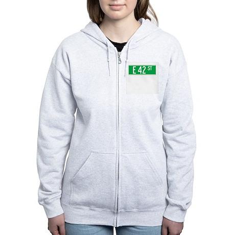 E 42 St., New York - USA Women's Zip Hoodie