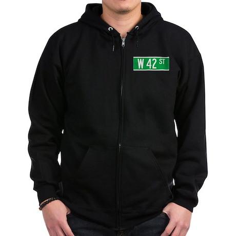 W 42 St., New York - USA Zip Hoodie (dark)