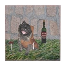 Merrie Monk Cairn Terrier Tile Coaster