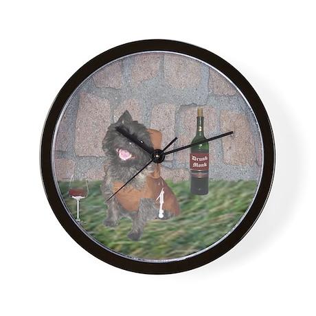 Merrie Monk Cairn Terrier Wall Clock