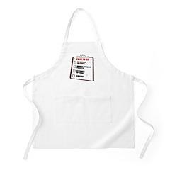 XMAS To-Do List BBQ Apron