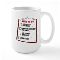 XMAS To-Do List Large Mug