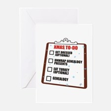 XMAS To-Do List Greeting Cards (Pk of 10)