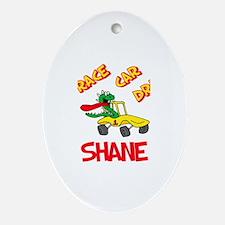 Shane Race Car Driver Oval Ornament
