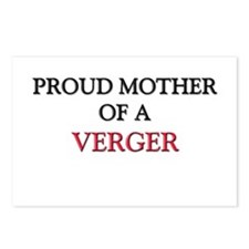 Proud Mother Of A VERGER Postcards (Package of 8)