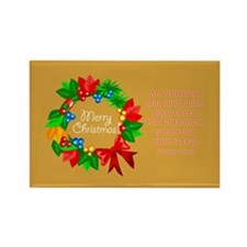 Christmas Advent Wreath Rectangle Magnet