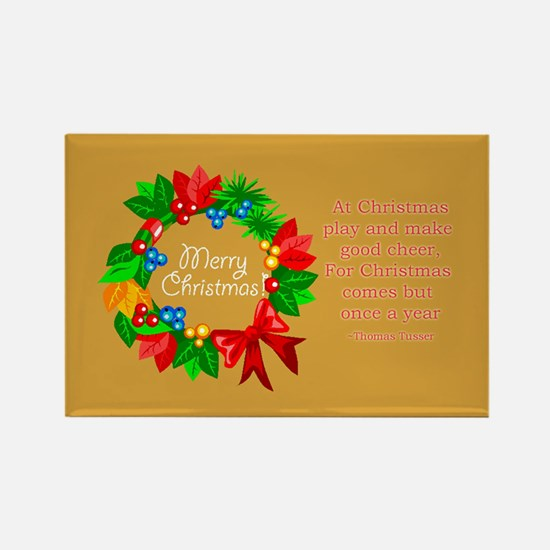 Christmas Advent Wreath Rectangle Magnet
