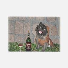 Merrie Monk Cairn Terrier Rectangle Magnet