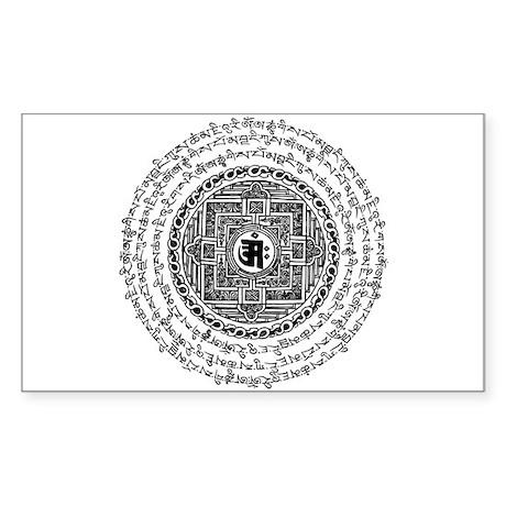 Mantra Mandala Rectangle Sticker