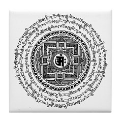 Mantra Mandala Tile Coaster