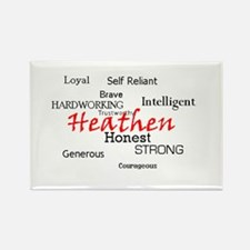 """Heathen Nature"" Rectangle Magnet"