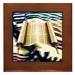 Torah's Song Framed Tile