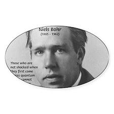 Quantum Physics: Niels Bohr Oval Decal