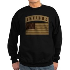 Desert US Infidel Patch Sweatshirt