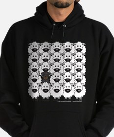 Beauceron and Sheep Hoodie (dark)