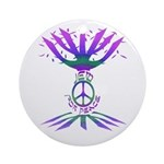 Jew for Peace (Color) Ornament (Round)