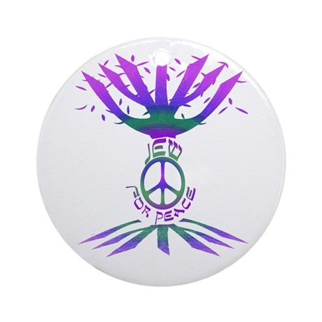 Jew for Peace (Color) Ornament (Round)