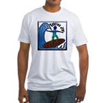 Surfing Jew Fitted T-Shirt