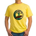 Surfing Jew Yellow T-Shirt