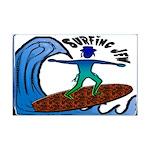 Surfing Jew Mini Poster Print